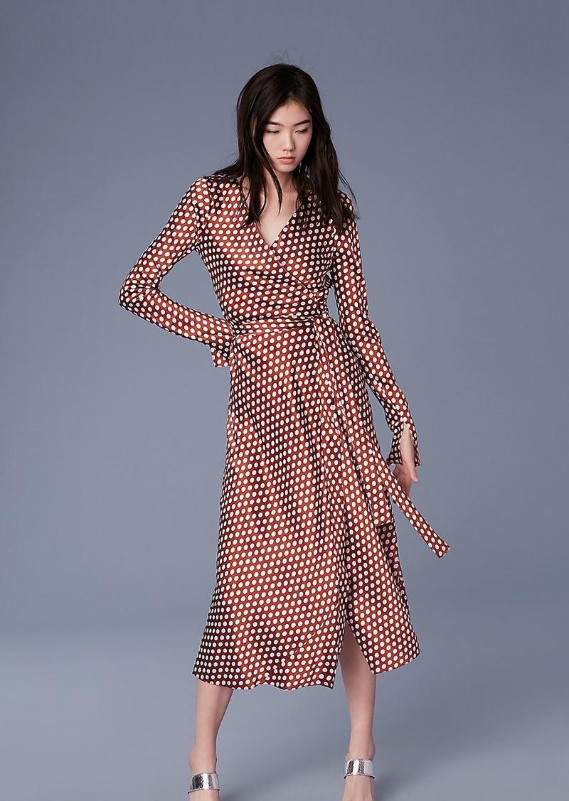 cc167a24a89 SALE! Diane Von Furstenberg Tilly Satin Wrap Dress