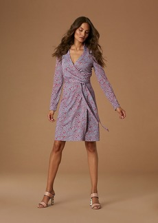Diane Von Furstenberg The New Jeanne Silk Jersey Wrap Dress