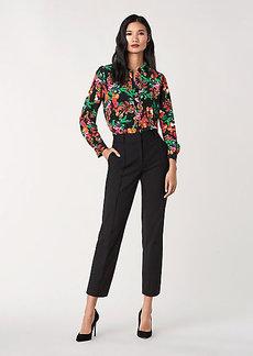 Diane Von Furstenberg Tia Cotton-Blend Cropped Pants