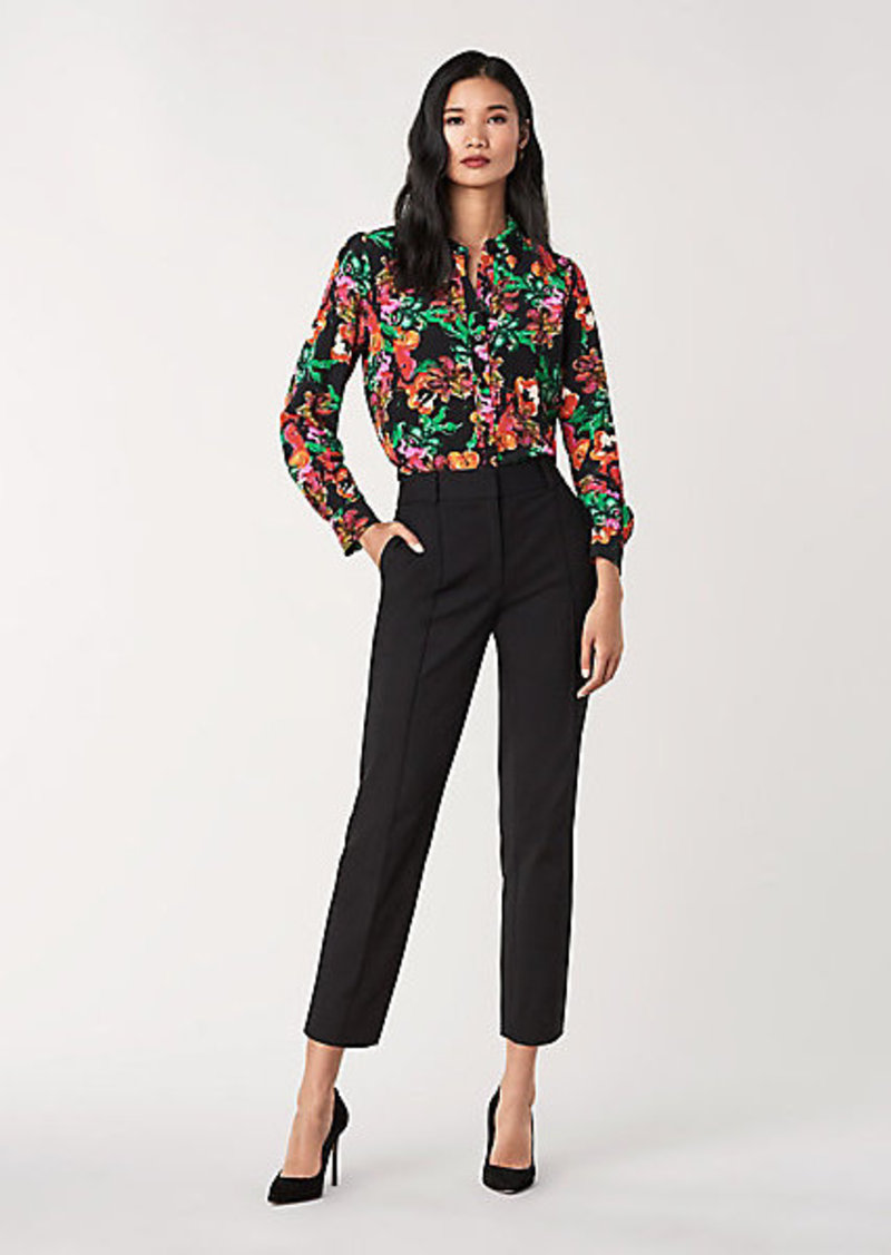 Diane Von Furstenberg Tia Cotton-Blend Cropped Pants