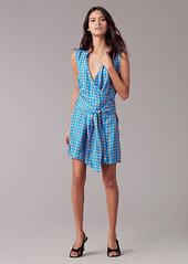 Diane Von Furstenberg Tie Front Dress