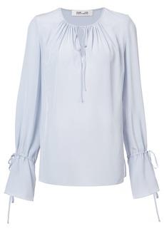 Diane Von Furstenberg tie neck blouse