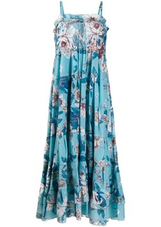 Diane Von Furstenberg tiered floral print dress
