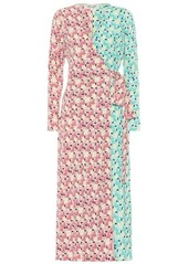 Diane Von Furstenberg Tilly printed crêpe wrap dress