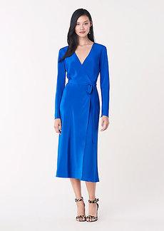Diane Von Furstenberg Tilly Silk Crepe de Chine Midi Wrap Dress