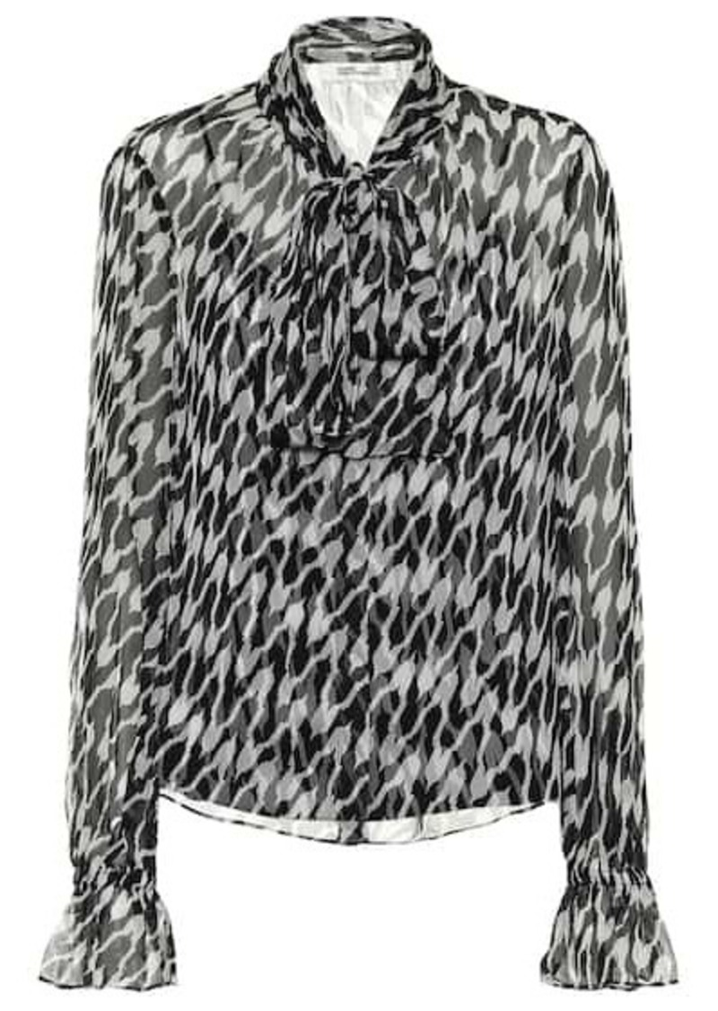 Diane Von Furstenberg Tina printed silk blouse