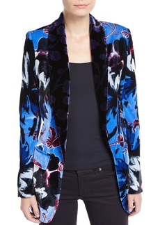 Diane Von Furstenberg Tommy Velvet Floral Single-Button Blazer