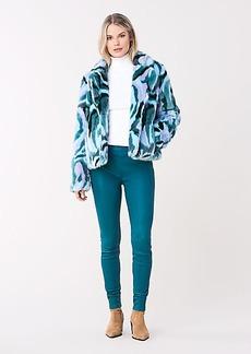 Diane Von Furstenberg Tracy Faux Fur Coat
