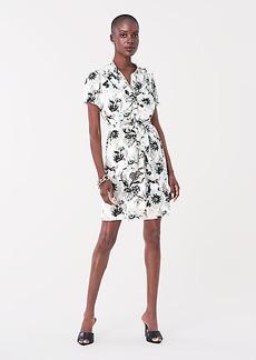 Diane Von Furstenberg Trinity Silk Crepe de Chine Mini Dress