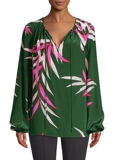 Diane Von Furstenberg Silk Keyhole Blouse