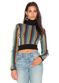 Diane Von Furstenberg Turtleneck Crop Sweater