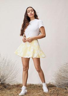 Diane Von Furstenberg TVF Bluebell Chiffon Mini Skirt