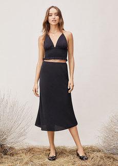 Diane Von Furstenberg TVF Lilac Chiffon Midi Skirt
