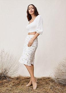 Diane Von Furstenberg TVF Willow Cropped Crepe Top
