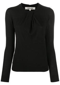 Diane Von Furstenberg twist detail jumper