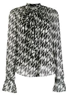 Diane Von Furstenberg two-tone blouse
