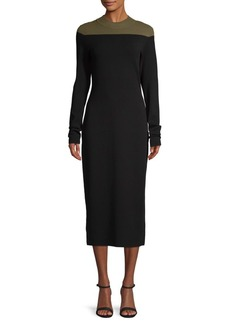 Diane Von Furstenberg Two-Tone Midi Sweater Dress
