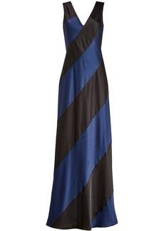 Diane Von Furstenberg Two-Tone Satin Gown