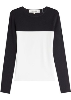 Diane Von Furstenberg Two-Tone Top