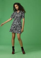 Diane Von Furstenberg V-Neck Flare Mini Dress