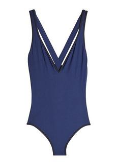 Diane Von Furstenberg V-Neck Swimsuit