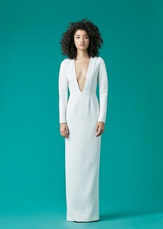 V-Neck Tailored Gown