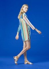Diane Von Furstenberg V-Neck Tied Mini Dress