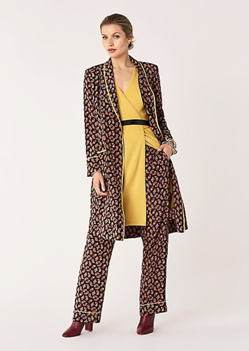 Diane Von Furstenberg Valeria Stretch-Georgette Smoking Jacket