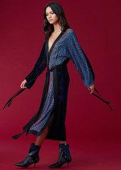 Diane Von Furstenberg Velvet Burnout Kimono Dress