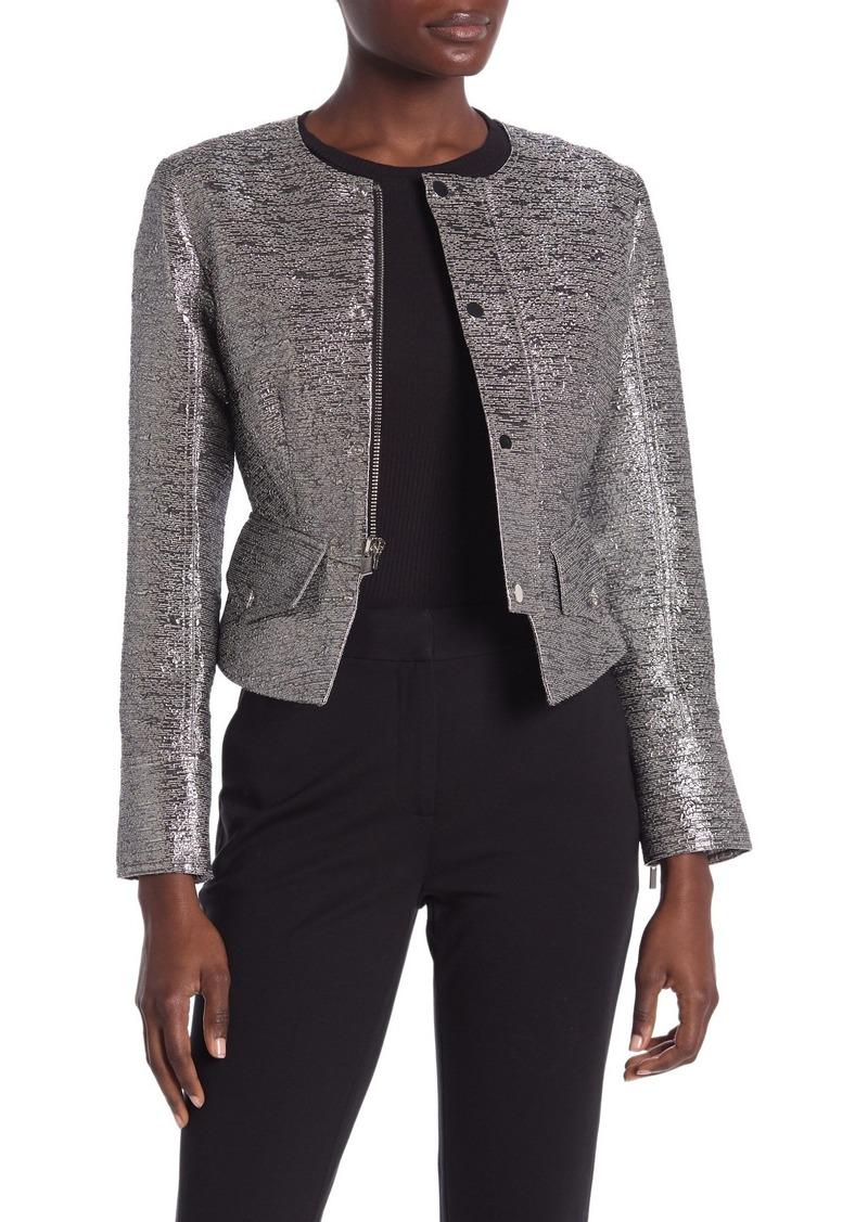 Diane Von Furstenberg Verena Metallic Jacket