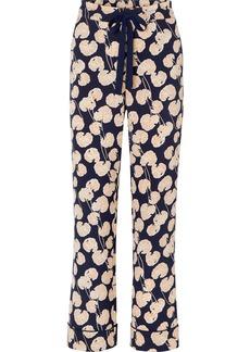 Diane Von Furstenberg Veronica Printed Crepe Wide-leg Pants