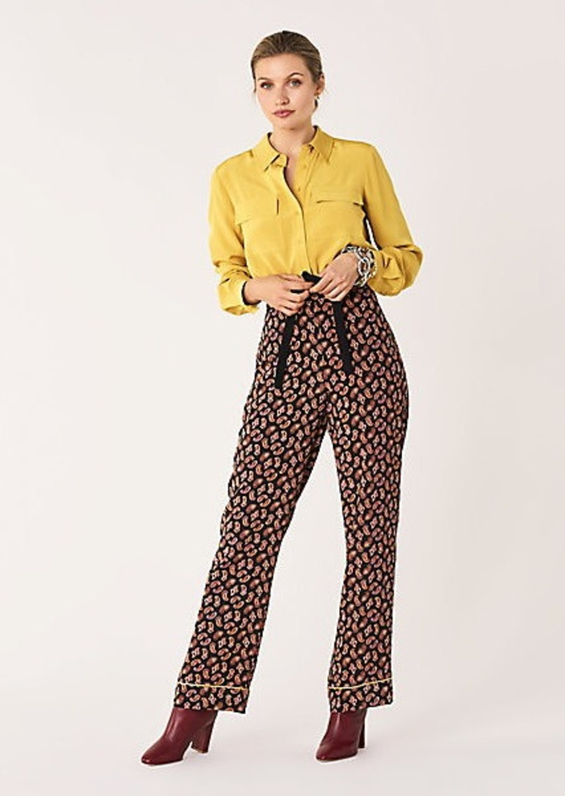 Diane Von Furstenberg Veronica Silk Crepe de Chine Pants