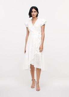 Diane Von Furstenberg Vienna Eyelet Midi Wrap Dress
