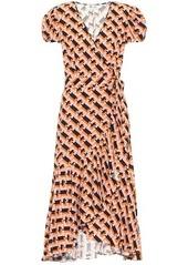 Diane Von Furstenberg Vienna linen-blend wrap dress