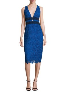 Diane Von Furstenberg Viera Sleeveless Lace Dress