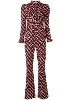 Diane Von Furstenberg vintage wave retro print jumpsuit