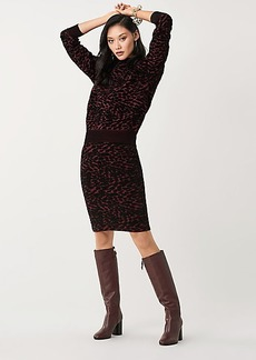 Diane Von Furstenberg Vita Velvet-Blend Fitted Skirt