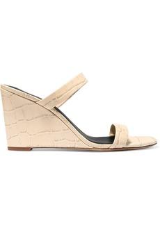 Diane Von Furstenberg Vivienne Croc-effect Leather Mules