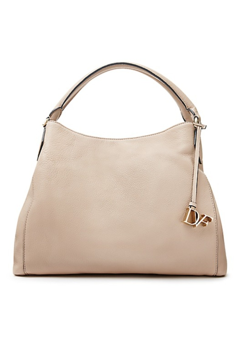 Diane Von Furstenberg Voyage Soft Leather Shoulder Bag