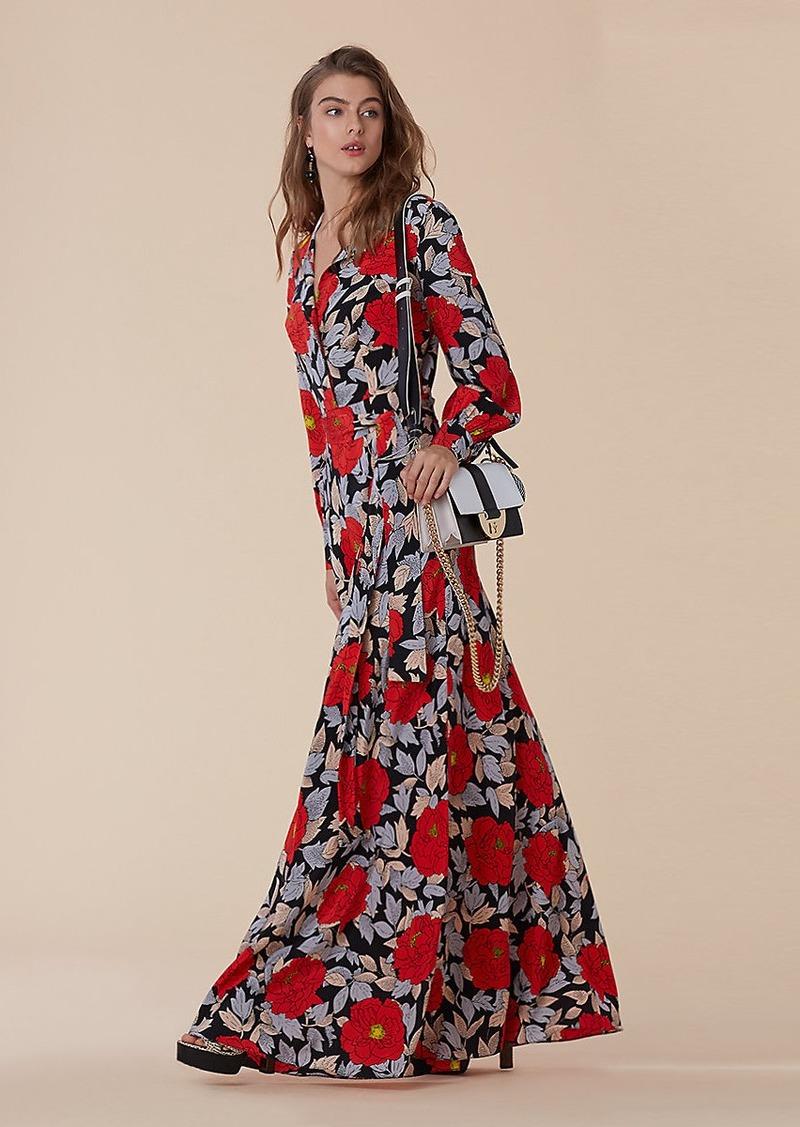 6ffeec706f7 Diane Von Furstenberg Waist Tie Maxi Dress