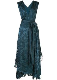 Diane Von Furstenberg wet look wrap dress