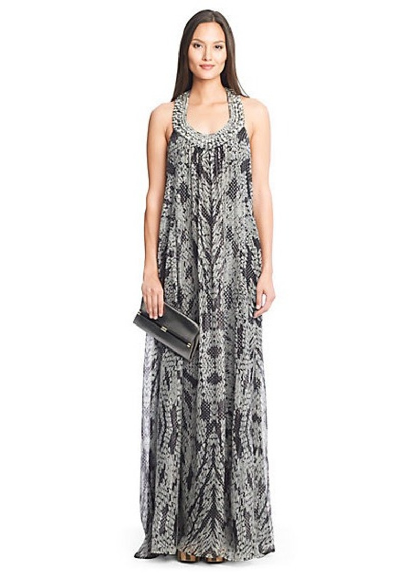 Diane Von Furstenberg Willemma Embellished Chiffon Gown