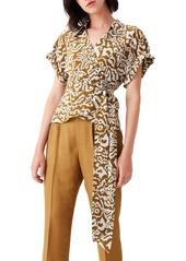 Diane Von Furstenberg Women's Dvf Debbie Wrap Silk Top