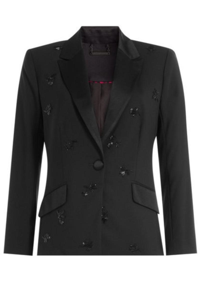 Diane Von Furstenberg Wool Blazer with Beaded Embellishment