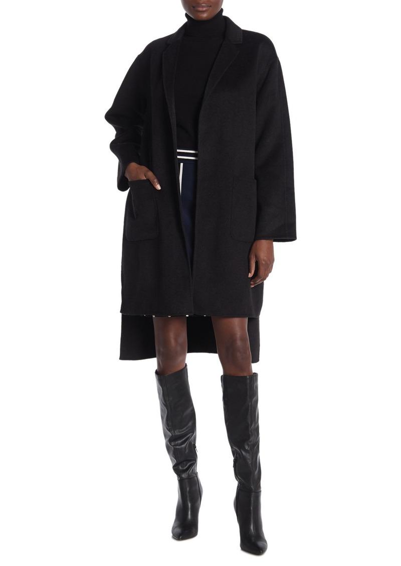 Diane Von Furstenberg Wool Blend High/Low Cape