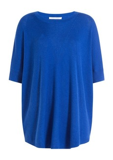 Diane Von Furstenberg Wool-Silk Ribbed Knit Top