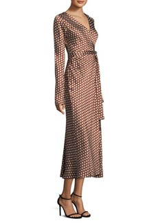 Diane Von Furstenberg Woven Silk Wrap Dress