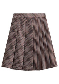 Diane Von Furstenberg Woven Skirt with Pleats