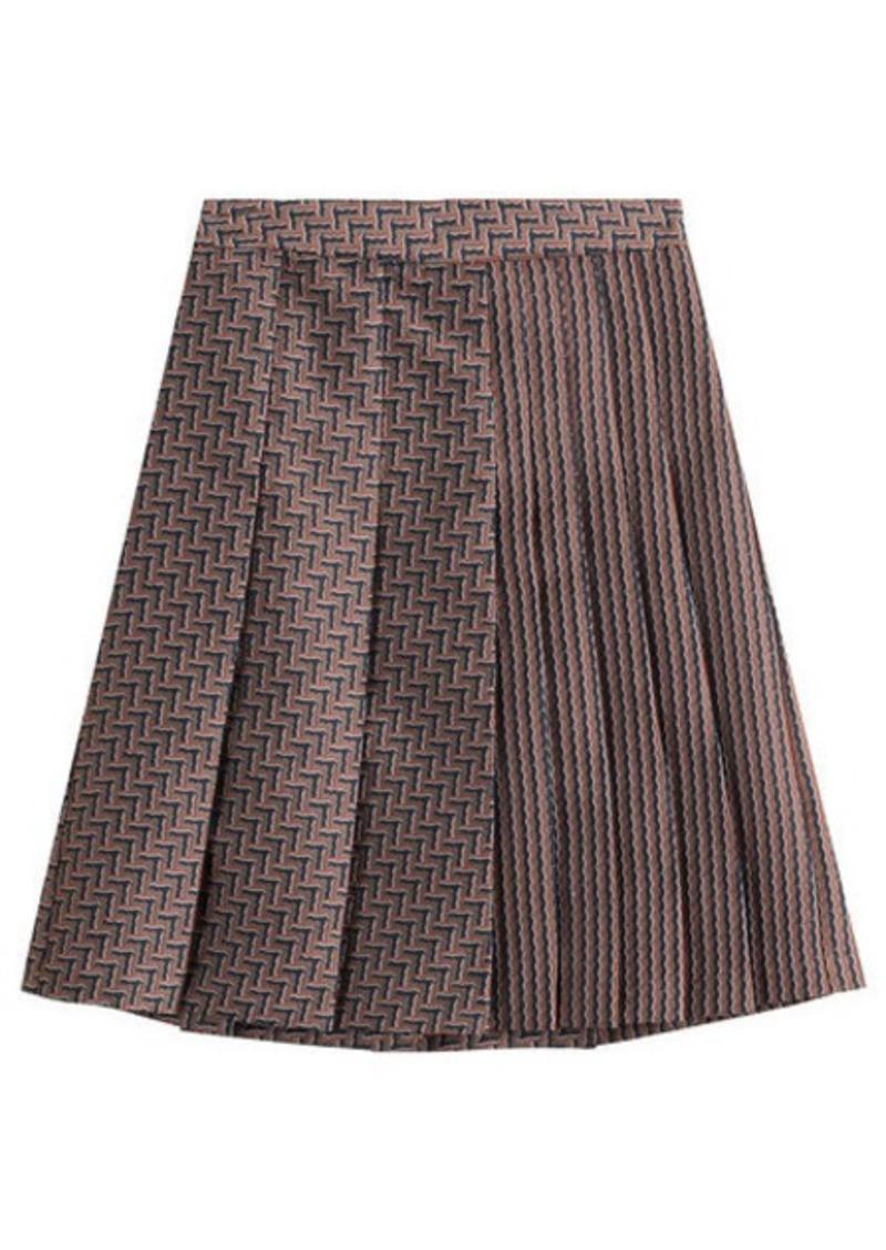 Diane Von Furstenberg Woven Skirt with Pleats