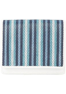 Diane Von Furstenberg woven stripe card holder